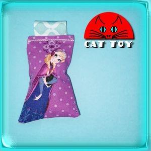 Frozen Anna Disney Catnip Cat Toy purple NWT OOAK
